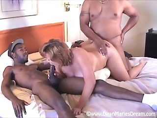 Dawn Marie 4 Way Interracial
