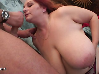Large titted mother fucking and engulfing dick