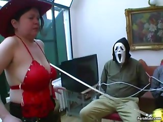 Plump mommy acquires her curly vagina screwed