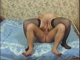 Overweight Aged in Nylons Copulates