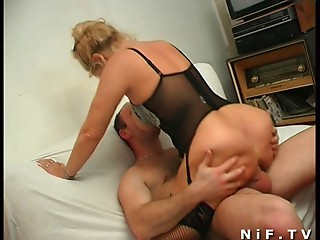 French older always can't live without anal-copulation and facial spunk flow