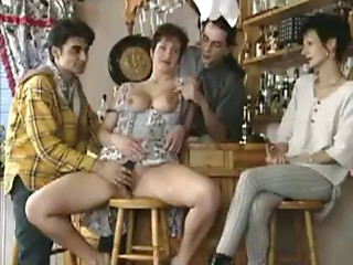 Sexually excited Mother I'd like to fuck Lets The Males In The Bar Take Turns On Her Snatch