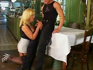 Sexy German older having sex with younger male