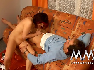 MMV Films German elder wife drilled on film