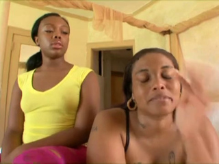Darksome Mommy AND DAUGHTER Shag Huge black meat