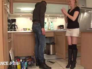 Skinny FRENCH Mother I'd like to fuck ANGIE PAYS THE PLUMBER