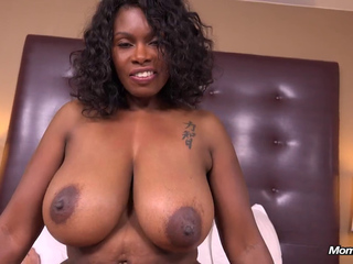 darksome Mother I'd like to fuck mamma with large natural milk shakes does porn in pov