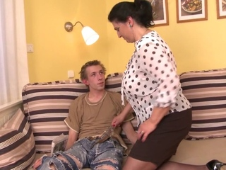 NastyPlace.org - Slutty large pantoons mamma and Eighteen yo chap