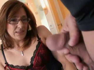 MILF sweethearts engulfing and fucking