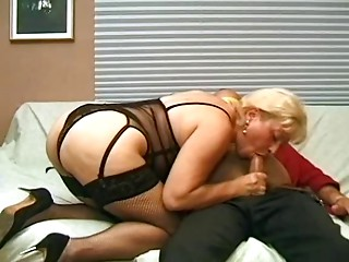 Golden-haired Anal invasion Mother I'd like to fuck in Fishnets Copulates