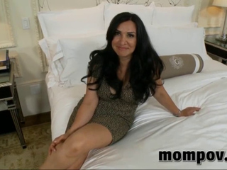 dark brown mommy sucks and bonks in pov