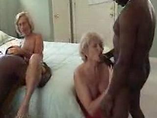Elder Interracial Foursome Fuckfest