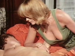 Golden-haired mother I'd like to fuck getting screwed by her son