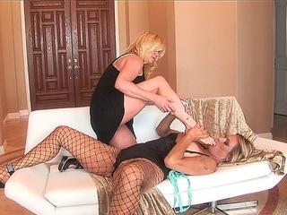 2 hawt older lesbians are heavily into feet enjoyment