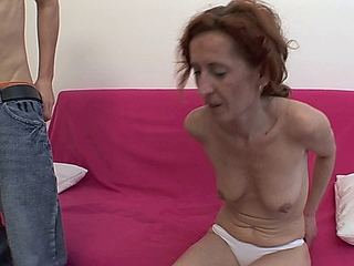 Aged redhead old seduces and copulates a juvenile young slut