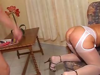 Older Blond Old slut Cock sucker and Fucker