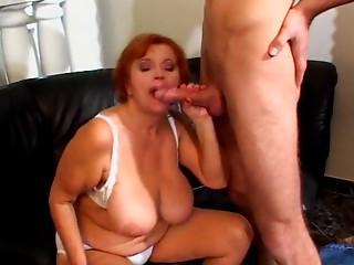 Large Boob Grandma Needs Juvenile Hard Dick