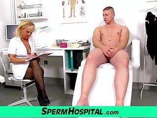 Nasty lady doctor Koko cfnm hospital tugjob