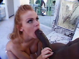 Big breasted Old redhead copulates biggest darksome dick
