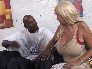 Flawless elder mommy creampied by ebony lad whilst daughter see