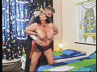 Old bitch WITH Large Bumpers Receive Drilled IN A HOTEL ROOM