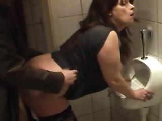 bitch fuckin'  kathy in my local pub lavatory