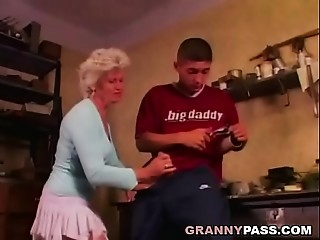 Grandmother Solely Desires Anal dance