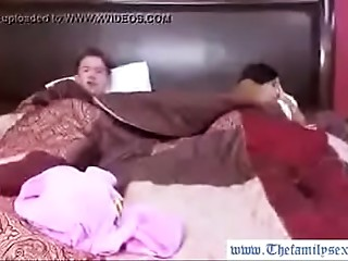 Thefamilysextube.com--hot MILF mama and her son sharing the daybed for the night