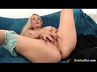 Older woman Cala Desires shows off her wet crack and anus previous to fucking