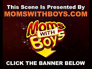 MomsWithBoys Matue Golden-haired Drilled In A Van