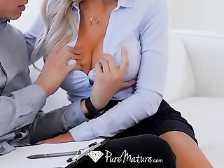 PureMature Big breasted real estate Mother I'd like to fuck Nina Elle bonks potential buyer