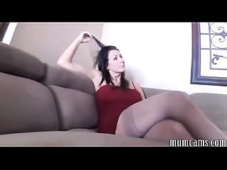 Mother punishing son - mumcams.com
