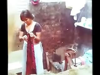 Indian Bhabhi Full Undressed Bathing Outdoor - Hidden Camera