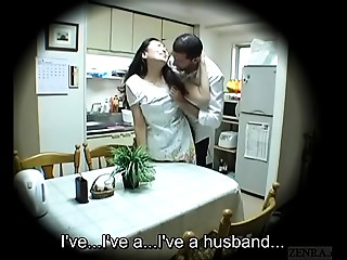 Subtitled Japanese homestay gone wrong host mama oral-sex