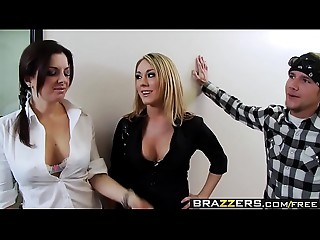 Large Breasts at School -  Sassy Hooker scene starring Amber Ashlee and Charles Dera