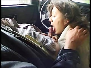Outdoor anal dance ends with a car  BJ