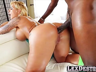Large arse Mother I'd like to fuck Ryan Conner in anal-copulation act of love with darksome man Lex