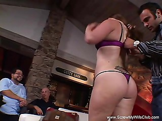 Dilettante BBW Housewife Learns To Swing