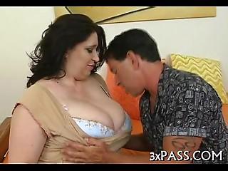 Big gorgeous woman creampie