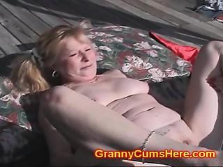 Old bitch Screwed by Dark GANG in YARD