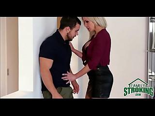Slutty Mamma Seduces Her Step Son - FamilyStroking.com