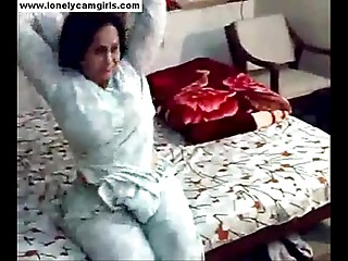 Pakistani wife disrobes and plays