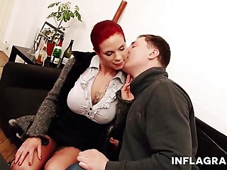 Big breasted German Mother I'd like to fuck Redhead secretary