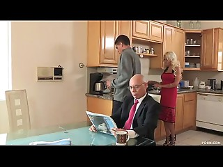 Son bonks his mother-in-law after his father goes to work