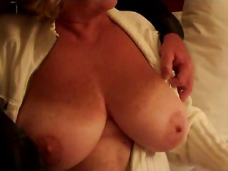 Large Natural DDD Older Love melons Plays and Selfsucks Teats