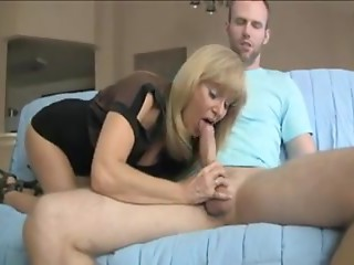 Aged Mommy making not her son cum