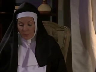 Sexually excited Elder Nun and Whore Lesbo Sex (roleplay)