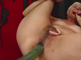 One more Old slut Works out on a Sex Machine