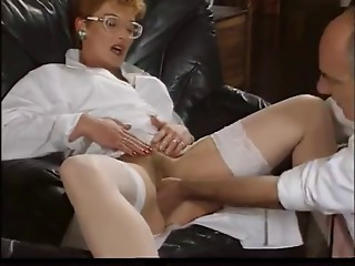 Older REDHEAD FRENCH NURSE Acquire Screwed BY 2 Biggest Knobs