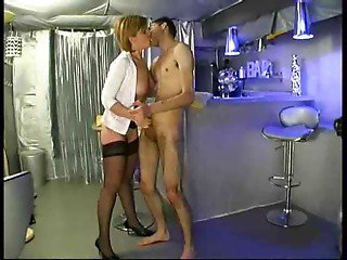 Aged wife drilled in bar
